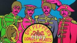 1967 Original Vintage Poster Sgt. Peppers The Beatles Black Light Dayglo Music
