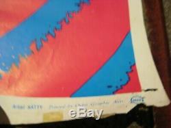 1967 Rare Original Vintage Turn On Your Mind Psychedelic Black Light Poster