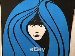 1968 Insanity Blacklight Poster Peace Girl N108 23 x 37 Rare