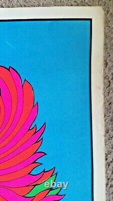 1968 Steve Sachs Blacklight Psychedelic Art Poster 1960s Hippie Original