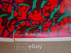 1968 THE INNER EYE Wilfred Satty PSYCHEDELIC BLACK LIGHT POSTER Original