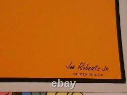 1969 ELECTRIC CAT VINTAGE PSYCHEDELIC BLACKLIGHT POSTER By JOE ROBERTS JR -NICE