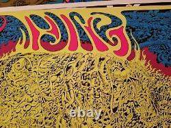 1969 ELECTRIC PIG VINTAGE PSYCHEDELIC BLACKLIGHT POSTER By JOE ROBERTS JR -NICE