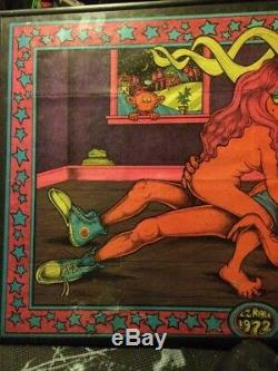 1972 E-z Rider X Rated Vintage Blacklight Poster Rare Popeye Adult Pentagon