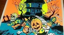 1978 John Carpenter's Halloween blacklight poster signed Michael Myers