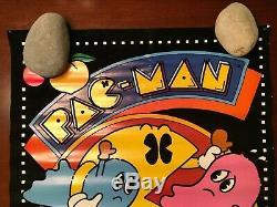 1980 PAC MAN Blacklight Poster PAC-MAN Black Velvet arcade video game Midway
