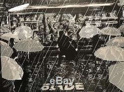 1982 Blade Runner Harrison Ford Movie Art Print Poster Mondo Raid71 BlackLight