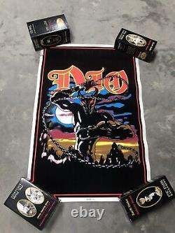 1984 Vintage Original Dio Holy Diver Velvet Black Light Metal Rock Poster- Wow