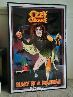 1984 original Ozzy Ozbourne diary of a madman black light poster 23×35