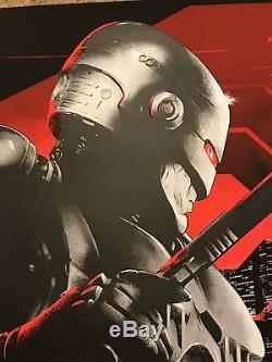 1987 Robocop Peter Weller Movie Print Poster Mondo Vance Kelly ED209 BlackLight