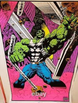 1996 Hulk 35 x 23 Marvel Comics blacklight poster 1 Avengers/1990's Marvelmania