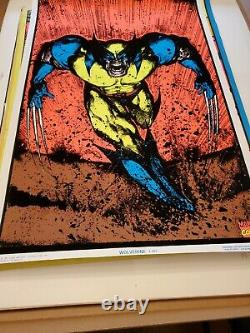1996 Marvel Wolverine #405 Blacklight Poster 23''x35'' Beautiful Bright Colors