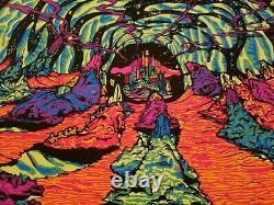 2000 LIGHT YEARS FROM HOME 1970 VINTAGE BLACKLIGHT POSTER By THIRD EYE -NICE
