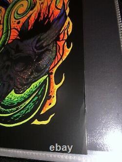 2020 Metallica Ktulu Rise Blacklight Sparkle Foil Poster # 45/50 Dirty Donny