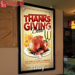 24X33 Backlit Movie Poster Art Picture Frame Led Light Box Advertising Display