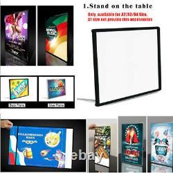 24x33 Basic Poster & Picture Frame Restaurant Led Light Box Menual Display