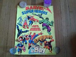 2 Blacklight 1971 Marvel Poster (s) Super Heroes & Captain America Third Eye Inc