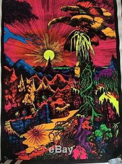 8 Vintage Black Light Posters