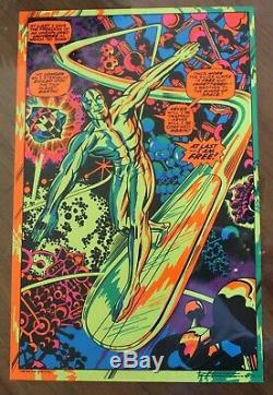 AUTHENTIC SILVER SURFER MARVEL THIRD EYE Black Light Poster TE4005 JACK KIRBY