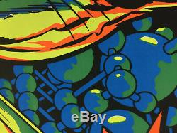 AUTHENTIC SILVER SURFER MARVEL THIRD EYE Black Light Poster TE4005 JACK KIRBY