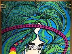 Acid Queen Vintage Blacklight Poster 1970 Pro arts Tom Gatz Psychedelic Drugs 70