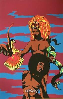 Afro King Vintage Blacklight Poster 28 X 42