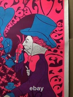 Alice In Wonderland Blacklight Poster Mad Hatter Steve Sachs Cathy Hill 1960s