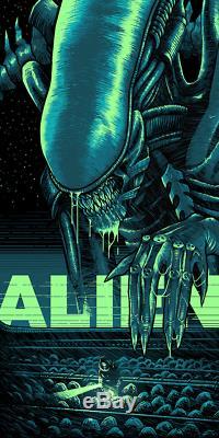 Alien Luke Preece Poster Screen Print Art Blacklight Fluorescent Ink 18x36 Mondo