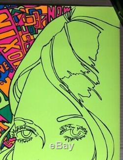 American Woman Original Vintage Blacklight Poster Third Eye Inc 1970 Psychedelic