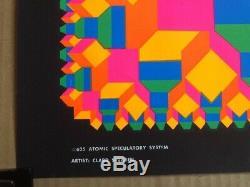 Atomic Speculatory System Original Vintage Blacklight Poster Third Eye Inc 1968