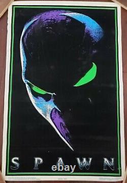 BLACK LIGHT POSTERSpawn 1997 Original Full Size Movie Flocked Todd McFarlane