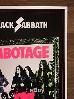 BLACK SABBATH Black Light Poster Led Zeppelin Marilyn Manson Blue Oyster Cult