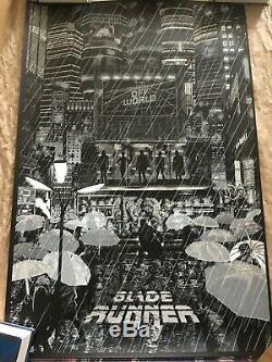 BLADE RUNNER Poster Print Raid71 Chris Thornley BLACK LIGHT Variant not Mondo