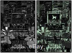 BLADE RUNNER Poster Print Raid71 Chris Thornley BLACK LIGHT Variant not Mondo