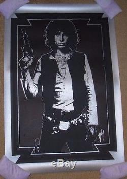 BLUNT GRAFFIX Jim Morrisson X Han Solo Light My Saber art poster print BLACK/Sil