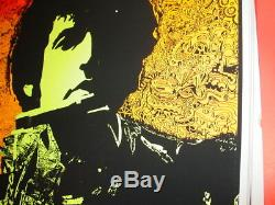 BOB DYLAN 1968 68 VINTAGE BLACKLIGHT ROCK NOS POSTER By JOE ROBERTS JR -NICE