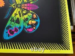 BUTTERFLIES 1970's VINTAGE BLACKLIGHT NOS POSTER By M. C. ESCHER -NICE