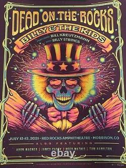 Billy And The Kids Red Rocks Half Hazard Press Poster Dead Billy Strings Ltd Ed