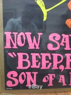 Black Light Poster Now Say Beep, Beep son of a B! Tch parody roadrunner In#G2897