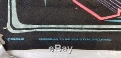 Black Light Velvet Poster Born To Drag Ed Roth Style Rat Rod Vtg 1970s Camaro