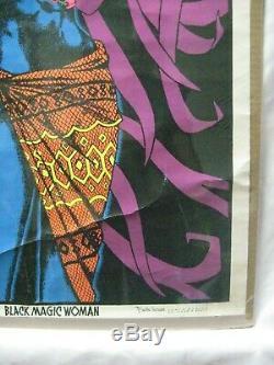 Black Magic Woman Black Light Vintage Poster 1971 Cng984