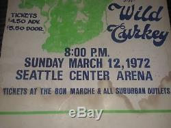 Black Sabbath Concert Poster Original Black Light 1972 Concert Poster