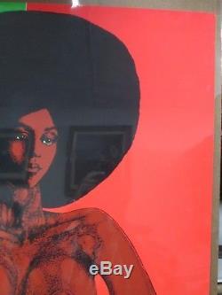 Black girl afro-dite Vintage Black light vintage Poster 1970 Inv#2129