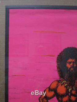 Black light poster THE RULERS II 70's Vintage Inv#G1641