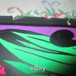Blacklight Vintage Poster Psychedelic PARADISE ORIGINAL PLATT L. A. NUDE