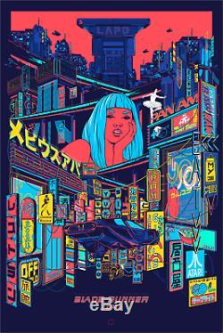 Blade Runner 2049 Black Light Night Ford, Mainger Print Poster Art #/300 Mondo