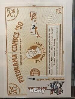 Bongo Comics Futurama 50 Black Light Poster COA Matt Groening Signed 52 Of 200