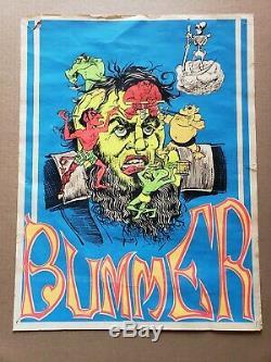 Bummer Vintage Blacklight 0oster 1967 Bad Trip Lsd Acid Test Haight Ashbury