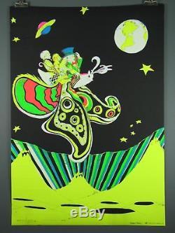 Butterfly Vintage Blacklight Poster c. 1970, Robert Byrd