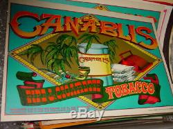 CANABLIS 1967 67 VINTAGE BLACKLIGHT MARIJUANA WEED NOS POSTER By RICK GRIFFIN